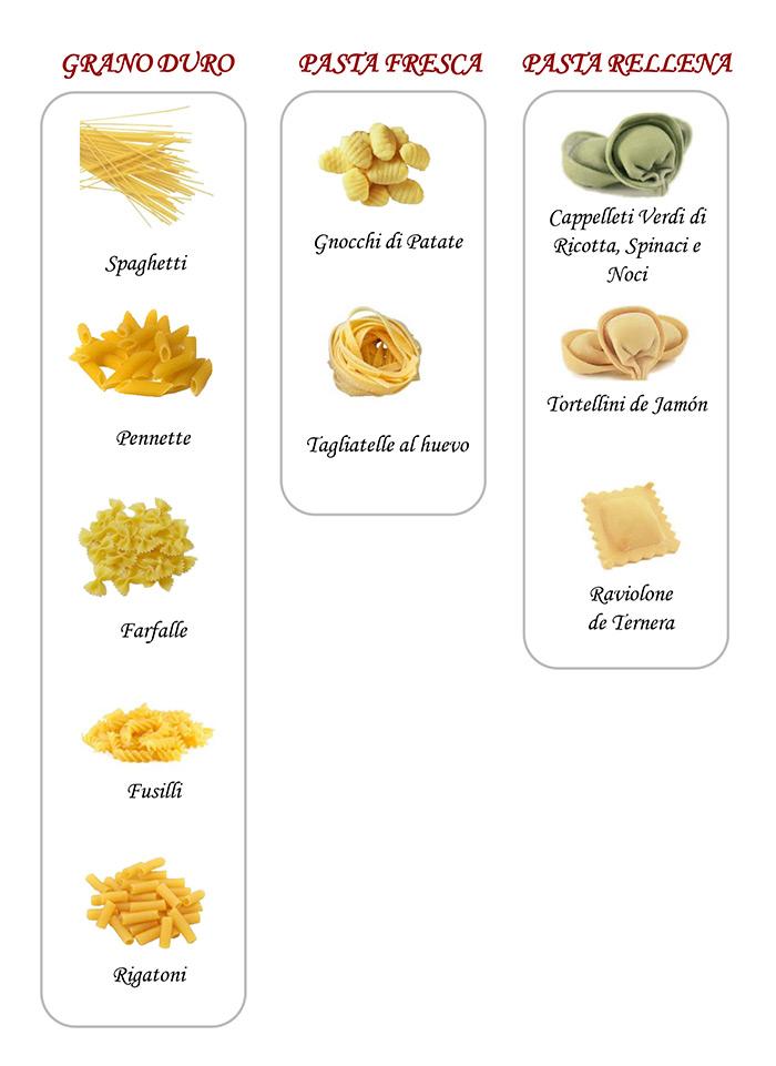 pastas menu segundo plato 1 euro mamma mia